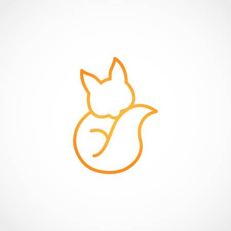 Vector illustration of a fox vector icon Illustration