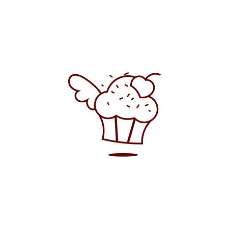 Vector illustration of a Muffin Icon