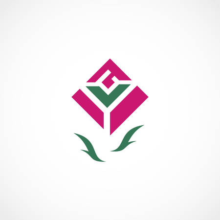 Vector illustration of a Rose Symbol