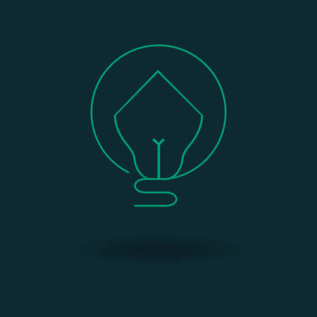 Vector illustration of a Bulb House Icon