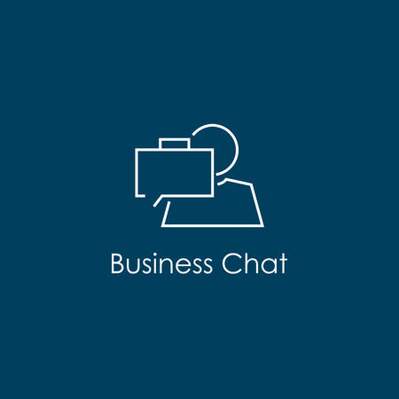 Vector illustration of a Business Chat Symbol
