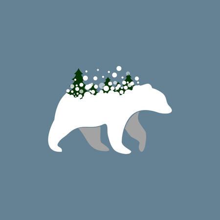 Vector illustration of a Polar Bear Icon Illustration