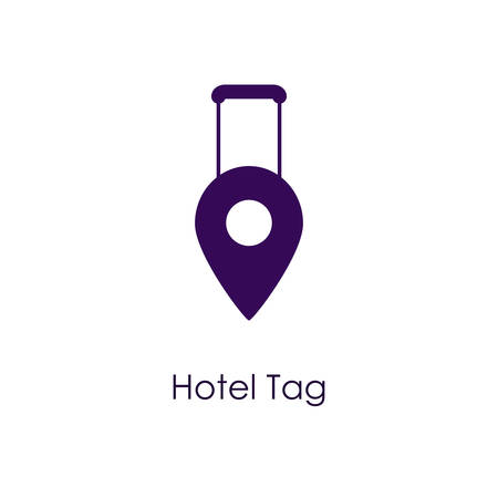 case: Vector illustration of a Hotel Tag Icon