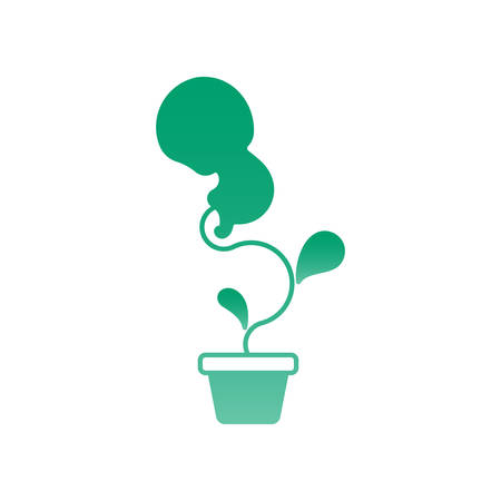 Vector illustration of a Baby Seed Icon Illustration