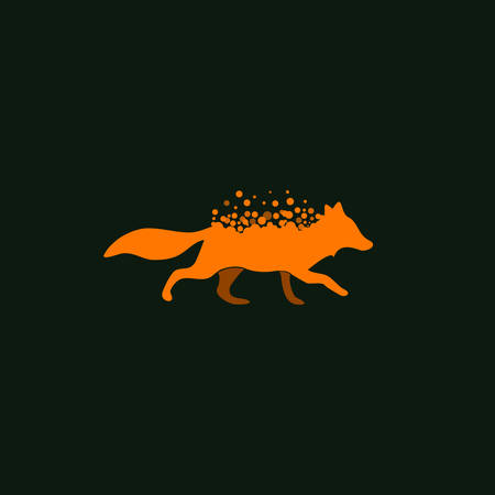 Vector illustration of a Fox Icon