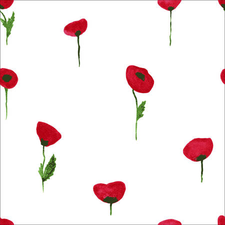 Vector illustration of a Poppy pattern