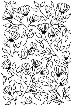 Vector illustration of a flower pattern