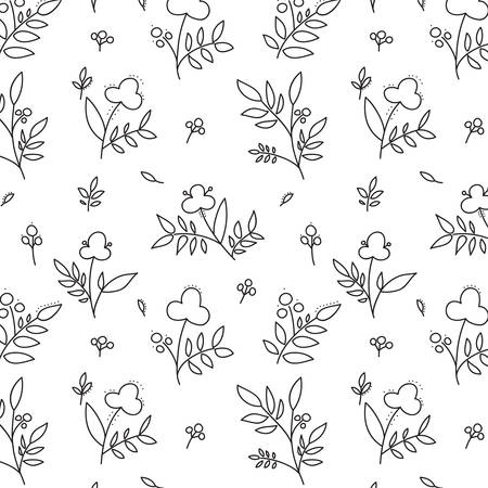 Vector illustration of a seamless flower pattern