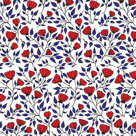 Vector illustration of a seamless flower pattern Archivio Fotografico - 126746981
