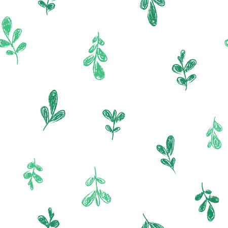 Vector illustration of a seamless leaves pattern