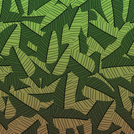 Vector background with tropic leaves. Seamless floral pattern. Summer vector illustration. Flat jungle print