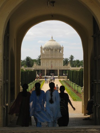 salwar: India: Old and New - Four young girls heading towards Tipu Sultans tomb, india