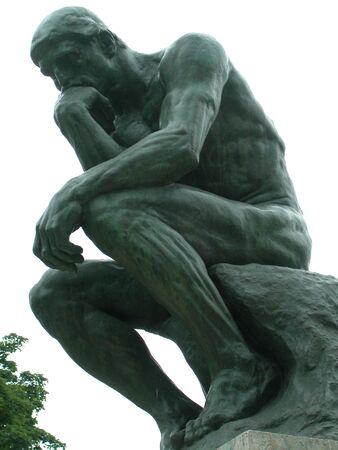 the thinker: thinker Stock Photo