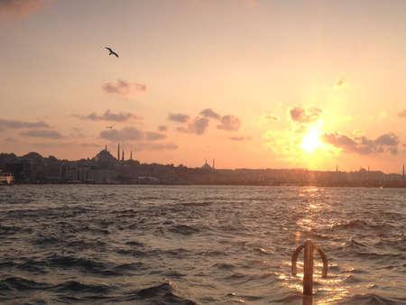 터키 이스탄불에서 일몰