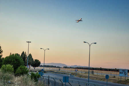 barajas: Jule 2013, Aircraft takeoff at the airport, Barajas - Madrid