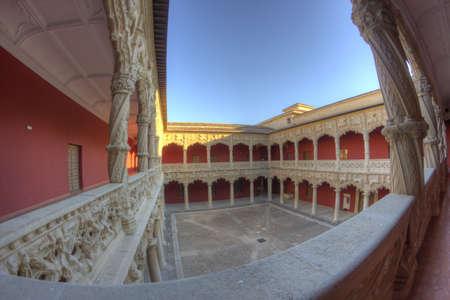 guadalajara: August 2013, Infantado Palace courtyard, Guadalajara - Spain
