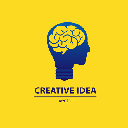 Brainstorming creative idea. Trendy Brainstorming icon. For use on web apps, mobile apps and print media. Vettoriali