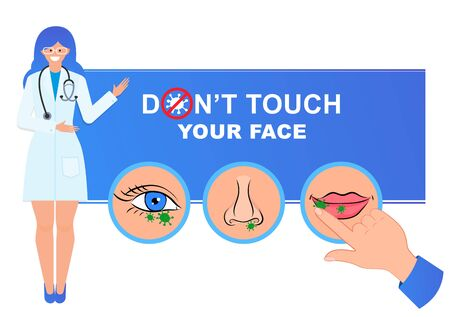 Do not touch hands, eyes, nose, mouth. Avoid touching your face.