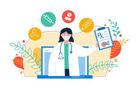 Online consultation doctor concept. Medical diagnostics over the Internet.