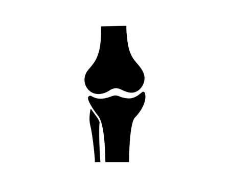 Knee bones vector. Human bone and joint icon. Illustration