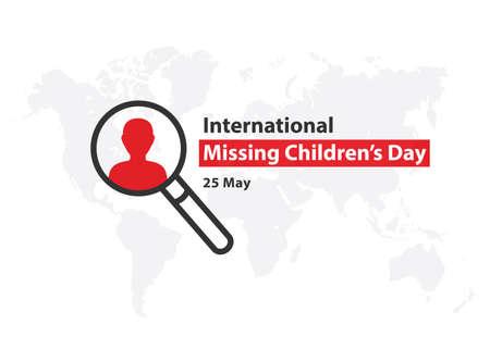 International Missing Childrens Day. Forget me not flowers. Lost children. Ilustração