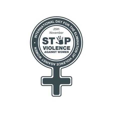 International Day for the Elimination of Violence Against Women. Stop violence against women concept. 25 November.