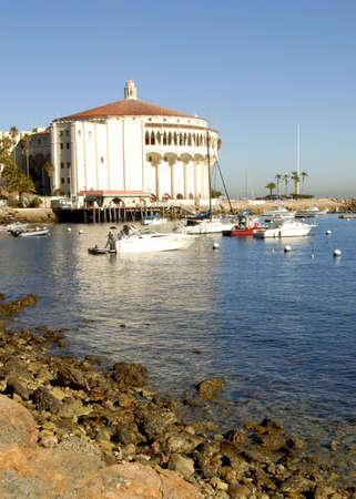 catalina: Casino building on Catalina Island on the beautiful southern California coast