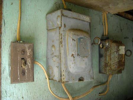 old power boxes Stok Fotoğraf