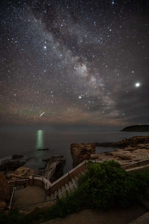 Milky Way over Acadia National Park in Maine
