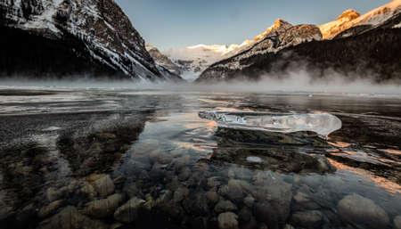 Ice on Lake Lousie in Canada Фото со стока