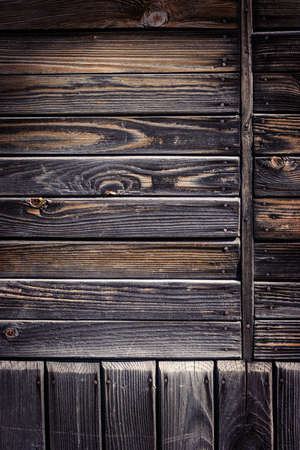 Old wooden boards. Weathered and darkened by time and rain
