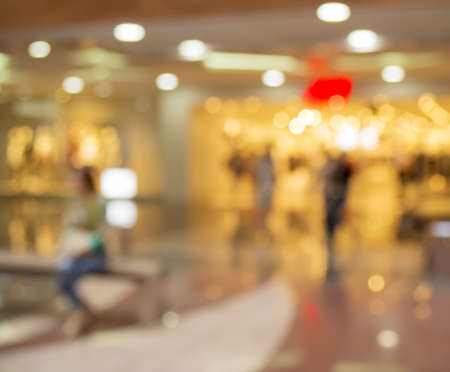 blurred people: Blurred Background: people go for Shopping Mall along the window