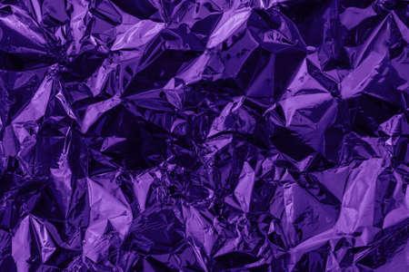 Violet deformed  made of tinted foil.