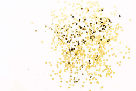 Festive shining background with gold sparkles. Holiday concept, copy space. 版權商用圖片