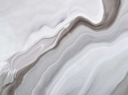 Abstract marble background or texture. Monochrome gray waves and stains. Acrylic Fluid Art. Foto de archivo