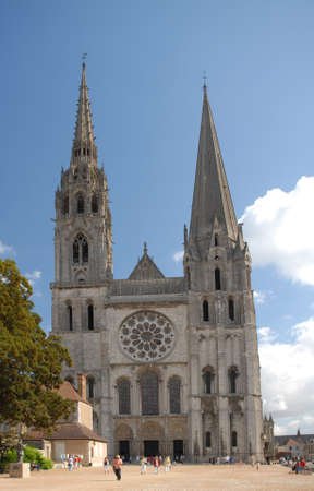 cattedrale: The cathedral of Chartres in France