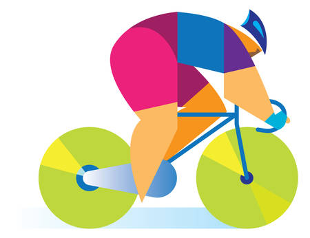biking glove: cyclist on the road