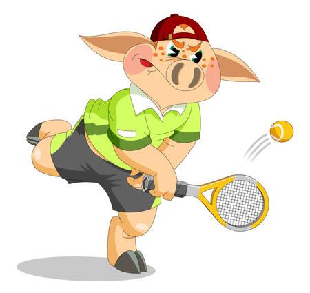 piglet: A piglet is tennis player
