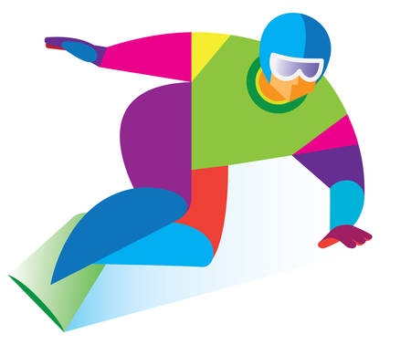 bum: snowboarder included in a steep turn