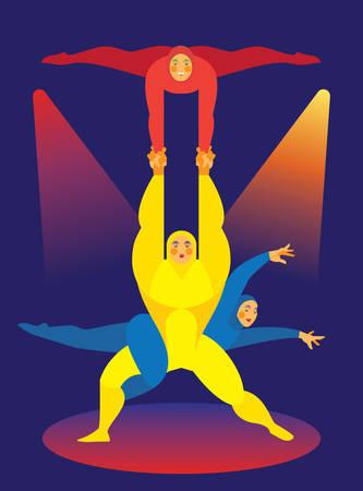 flexible woman: Circus. Acrobats