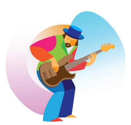 Jazz guitarist. Solo