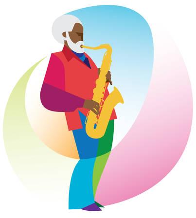 Jazz saxophonists Illustration