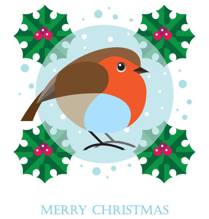 redbreast: Robin. Merry Christmas