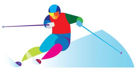 slopes: ski slalom