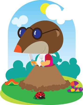 animal mole: Animal baby mole