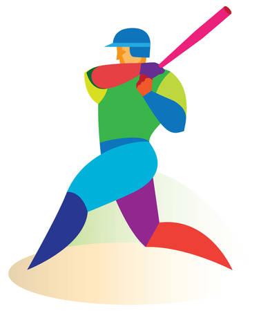 batter: Baseball batter Illustration