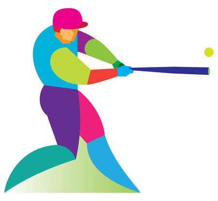 bunt: Baseball player, Batter, Illustration Illustration