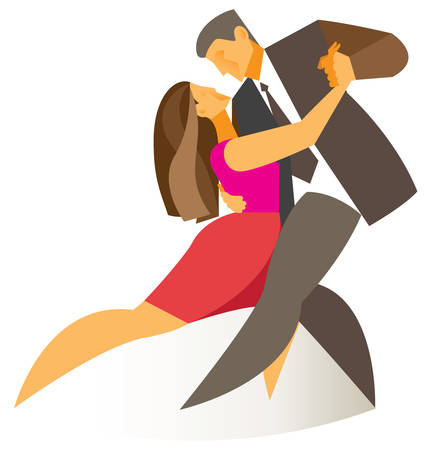 tango: tango dance illustration