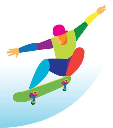skateboard park: skateboarding Illustration