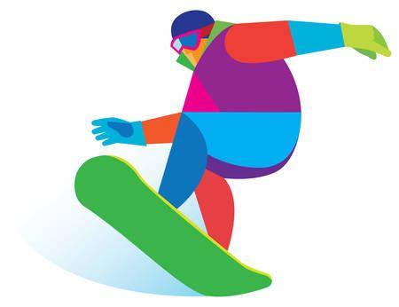 backside: snowboarding illustration